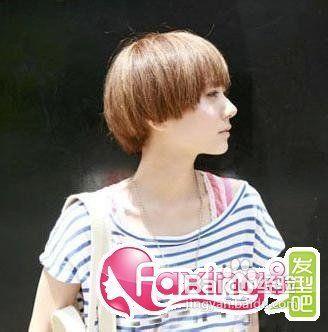 美发   1 可爱风非主流短发发型,清新乖巧,又显得文静可爱,短发纹理烫图片
