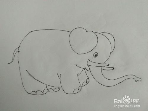 如何画大象简笔画步骤