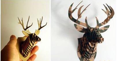 纸盒制作创意立体棕鹿图片