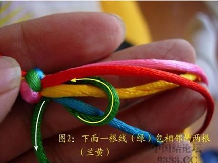 怎样编中国结之五线蛇结