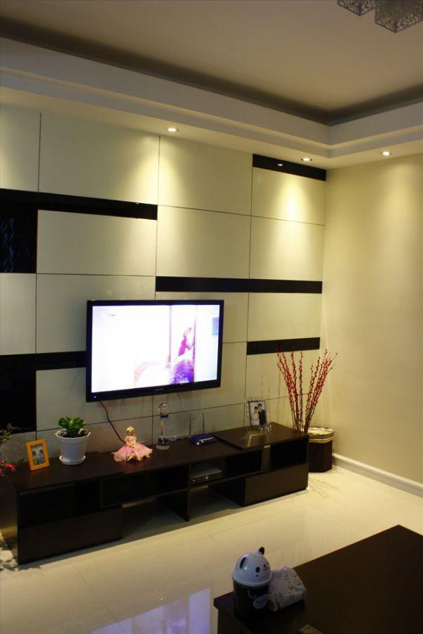 24款电视背景墙装修实景图 2013最潮样板间来袭图片