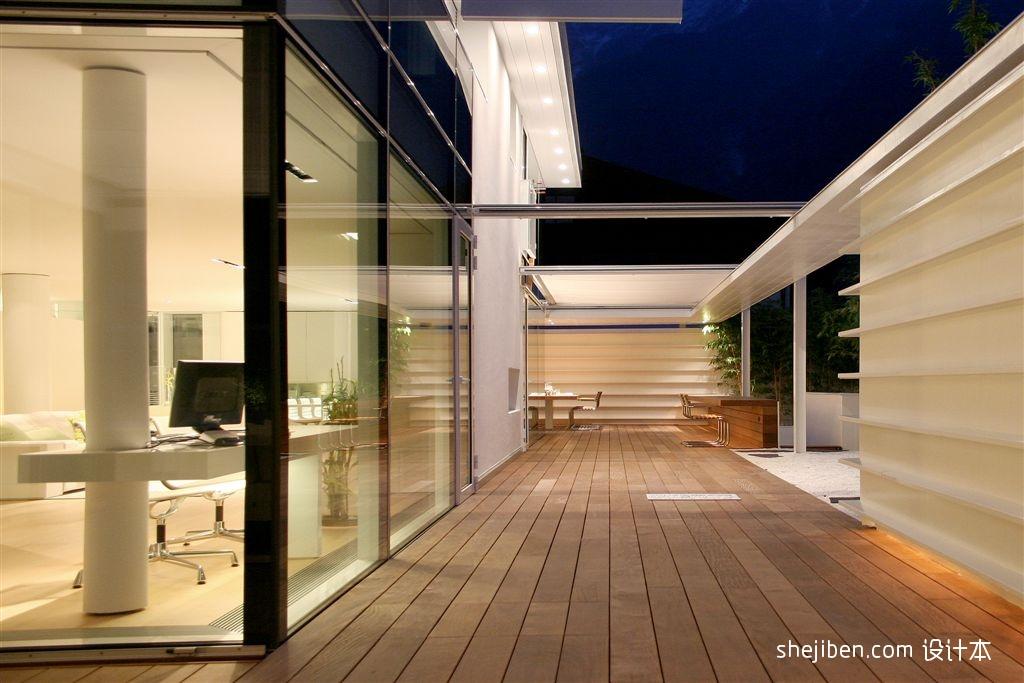 2013现代风格别墅家装书房走廊过道实木地板装修效果图欣赏 高清图片