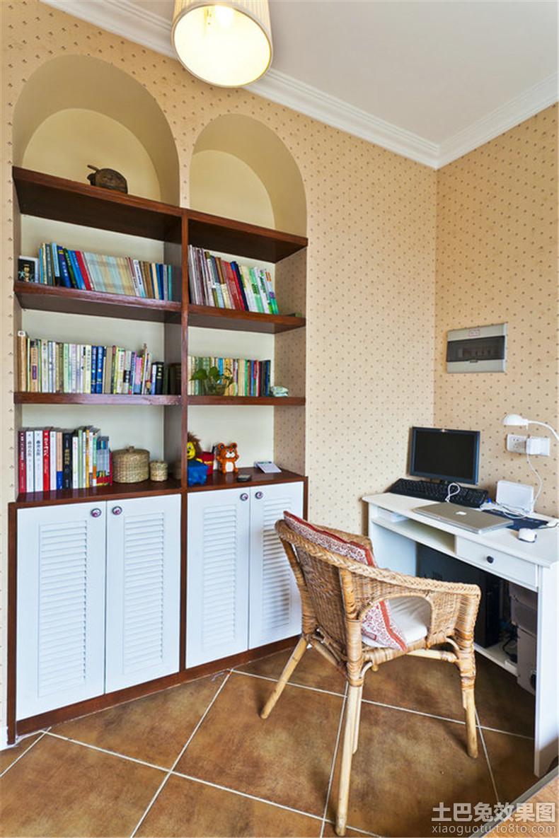 2013家装书房书柜装修效果图 高清图片