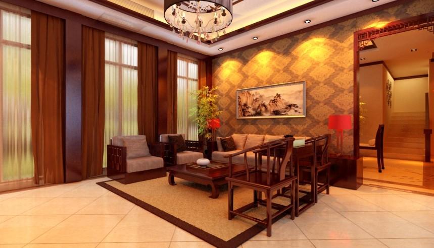 中式风格别墅四室一厅图片