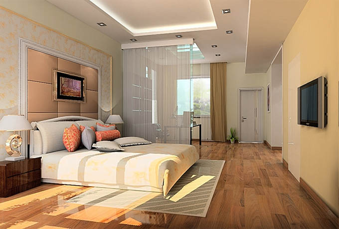 家装效果图 美式风格 卧室装修效果图图片