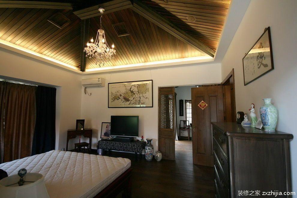 中式素雅卧室装修效果图_装修之家装修效果图图片