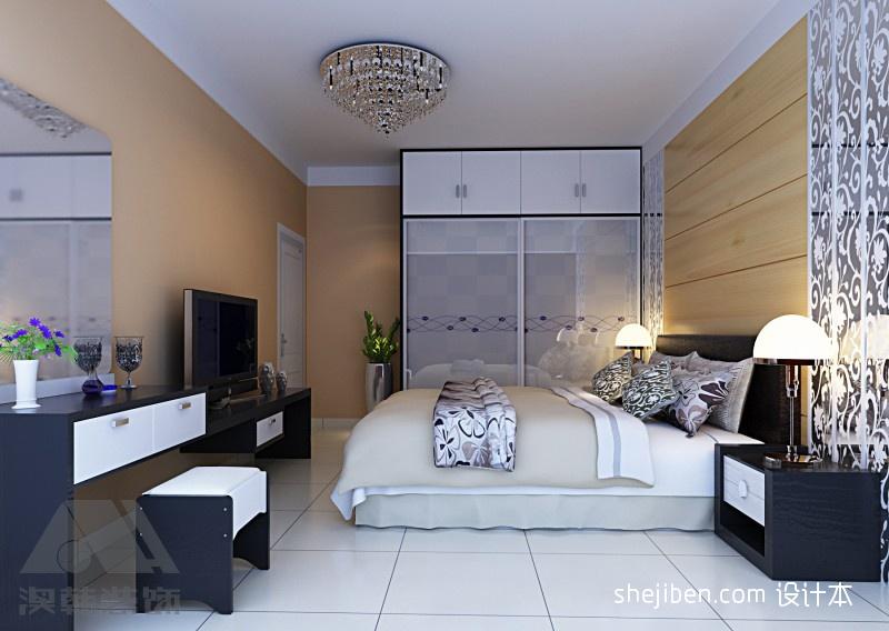 翰林雅筑小区三居室室内设计装修效果图 高清图片