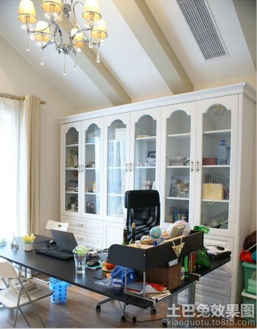 书房组合书柜装修效果图大全2013图片 高清图片