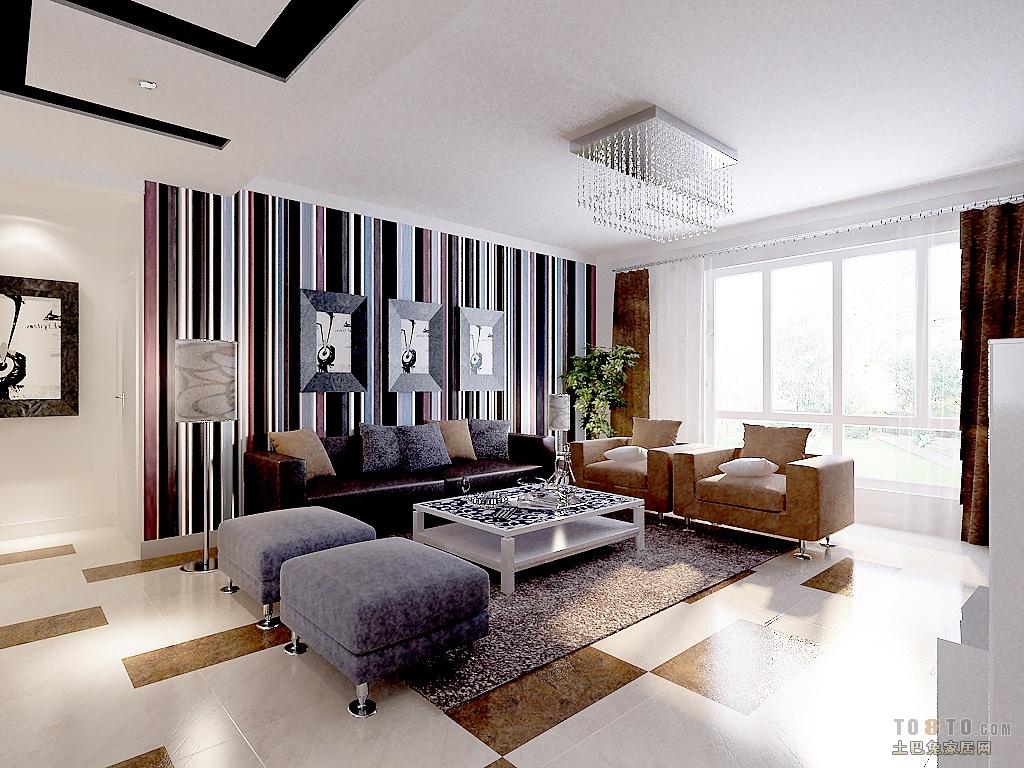 现代客厅沙发背景墙装修效果图大全2013图片 高清图片