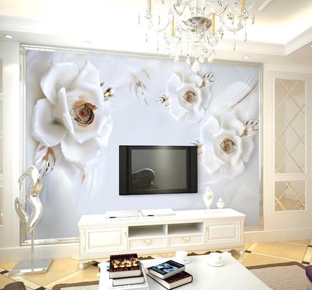 3d立体墙纸,为你家的电视背景墙换上新衣裳,效果逼真有层次图片