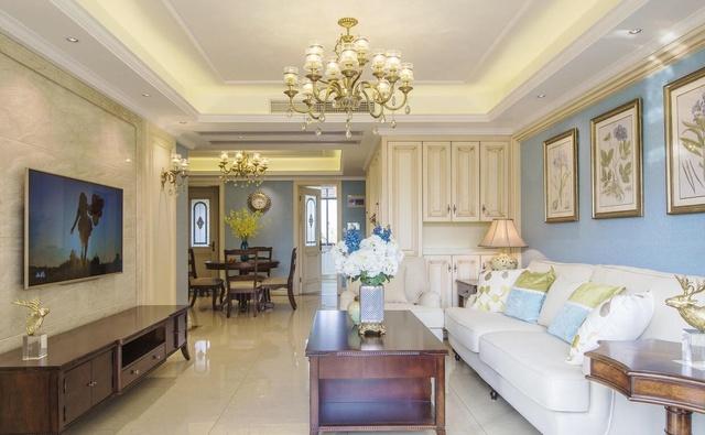 110㎡三室一厅,简美风格,没想到美式也可以小清新图片