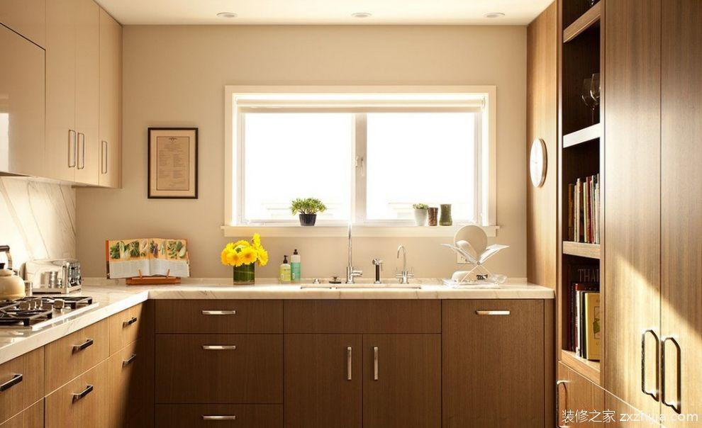 简欧式整体厨房橱柜效果图_装修之家装修效果图图片
