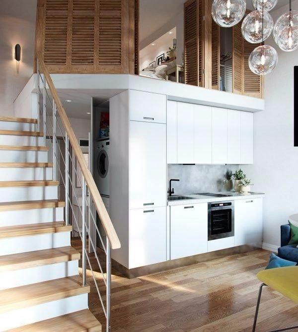Bright Scandinavian Decor In 3 Small One Bedroom Apartments: Loft公寓装修费用-南昌loft公寓装修费用,50平loft公寓装修费用,loft公寓上下两层装修,loft公寓装修效果图,50平米loft装修多少钱