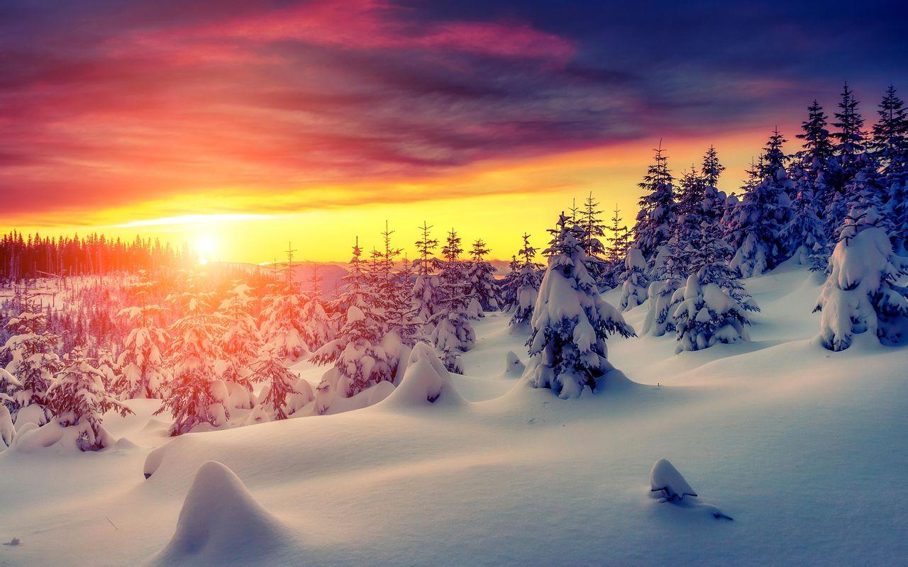 好看的冬天雪景高清图片合集冰天雪地电脑桌面壁纸第一辑,这是美图片