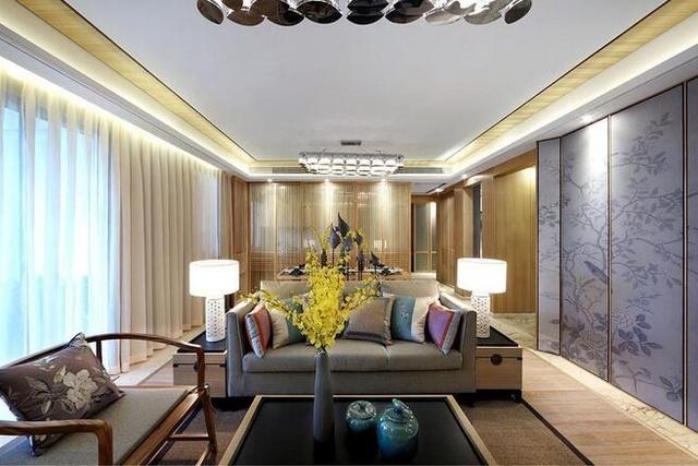 中式风格三居室装饰效果图案例图片