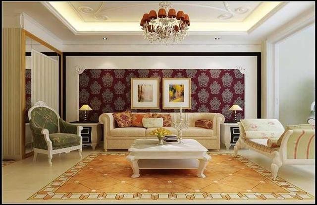 大气的欧式元素 豪华又不失优雅的四居室装修效果图片