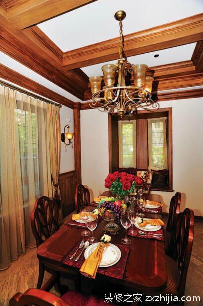 美式乡村风格餐厅照片墙图片_装修之家装修效果图图片