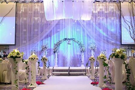 舞台背景布置,欧式布艺布缦舞台,韩式创意拉纱舞台颜色款式自选含灯光