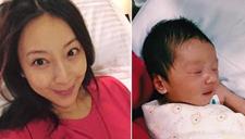 名模隋棠闪婚7个月后产子 晒宝贝可爱萌照