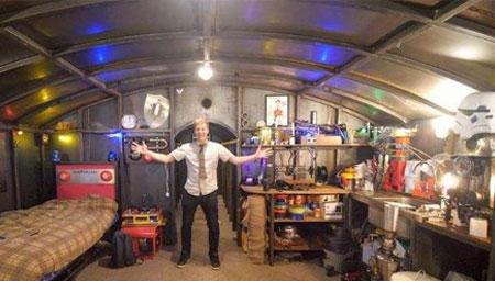 英国男子花5年打造钢铁地堡