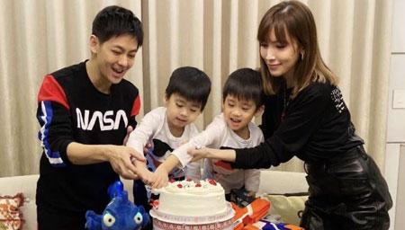 林志颖夫妇为儿子庆生