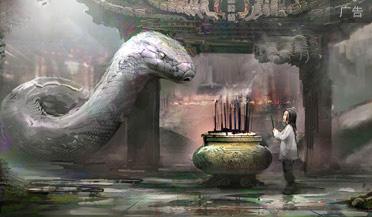 大蛇要吃小女孩