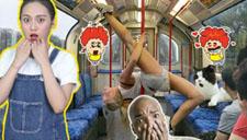 【何仙姑夫】大尺度!美女地铁秀钢管舞险走光