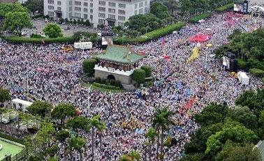 台湾空气污染严重遭抗议