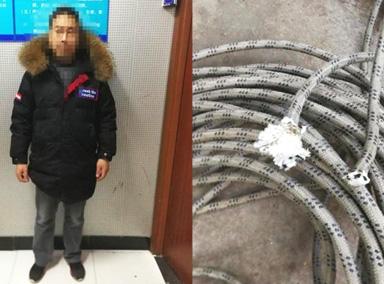 16楼高空作业被割断安全绳