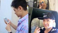 林志颖用iPhone6晒自拍 金发张惠妹变瓜子脸