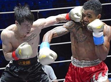 KO一龙的泰国拳王西提猜 被打的没脸见人