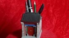 古时候的创意笔筒:四合院笔筒你见过吗