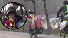 狼爸带6岁儿子骑行穷游
