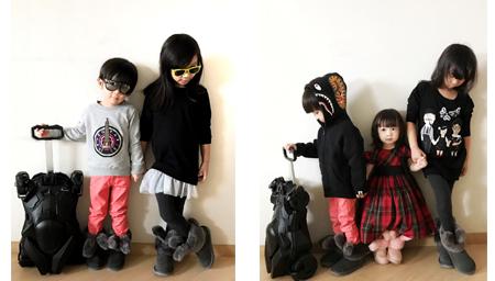 陈浩民4个娃个个有型 摆pose俊俏好似小模特