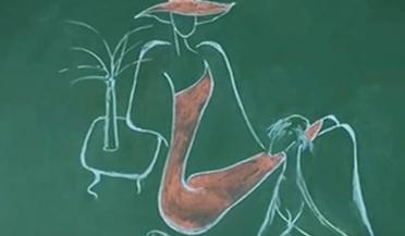 """老师把函数画成""""美少女"""""""