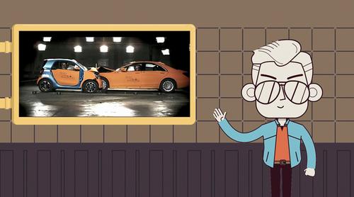 SMART和奔驰S级对撞,谁更安全?
