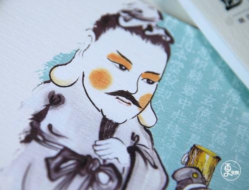 中国爸爸手绘3200幅水墨国画,让孩子读懂《三国》