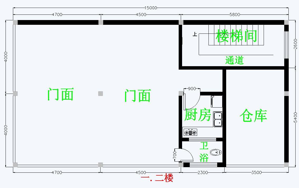 请高手帮看这房屋平面图怎样有哪些地方待改进.图片