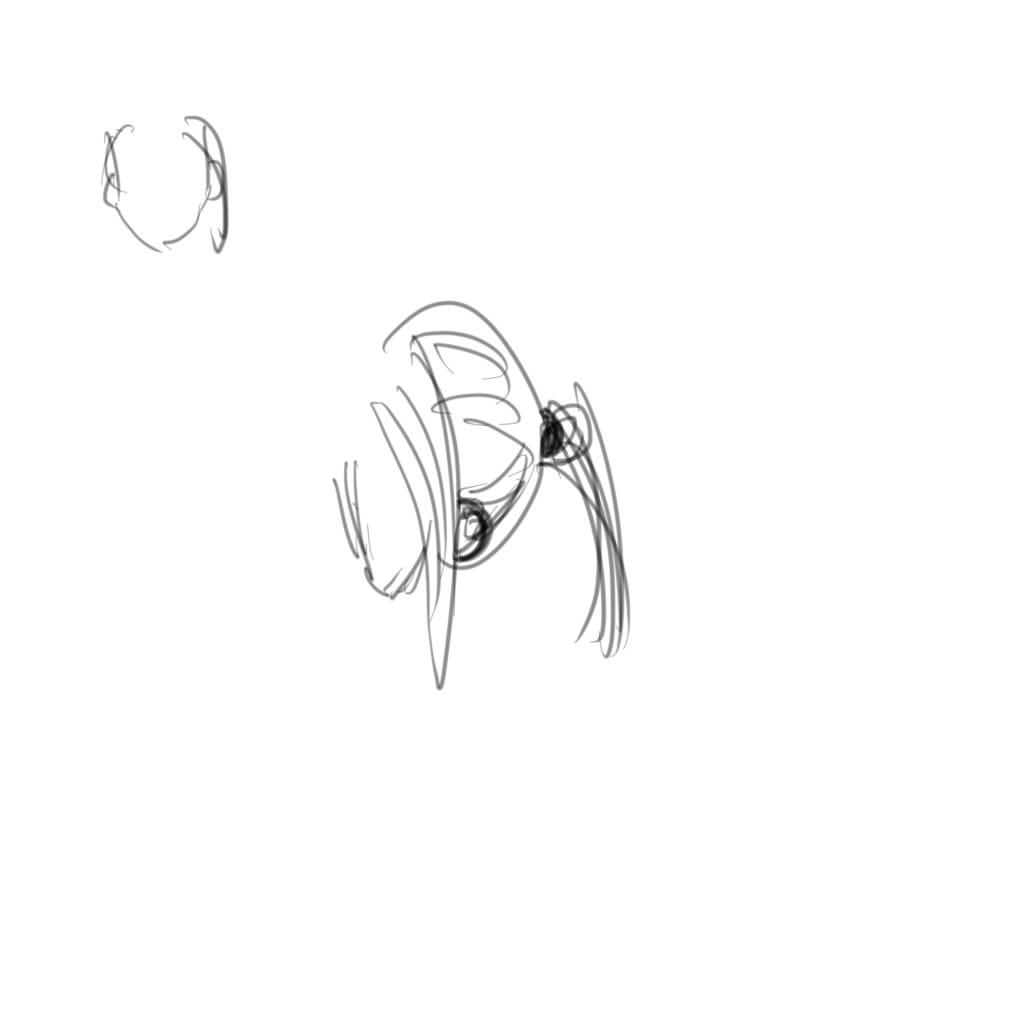 求中分 然后全部头发扎起来,右边掉了一缕头发的样子.图片