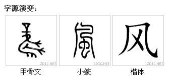 甲古文的风字怎么写图片