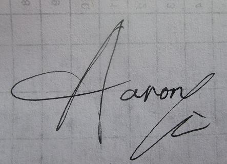 aaron的英文名如何设计签名好看?图片