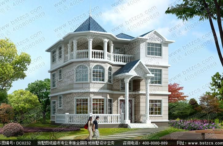 五百万可以任性建各种豪华别墅了,这款欧式豪华三层别墅怎么样图片