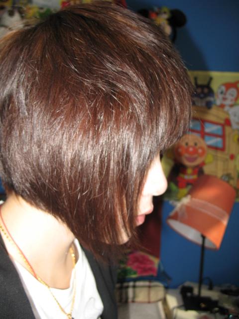 短发垫发根发型1; 短发