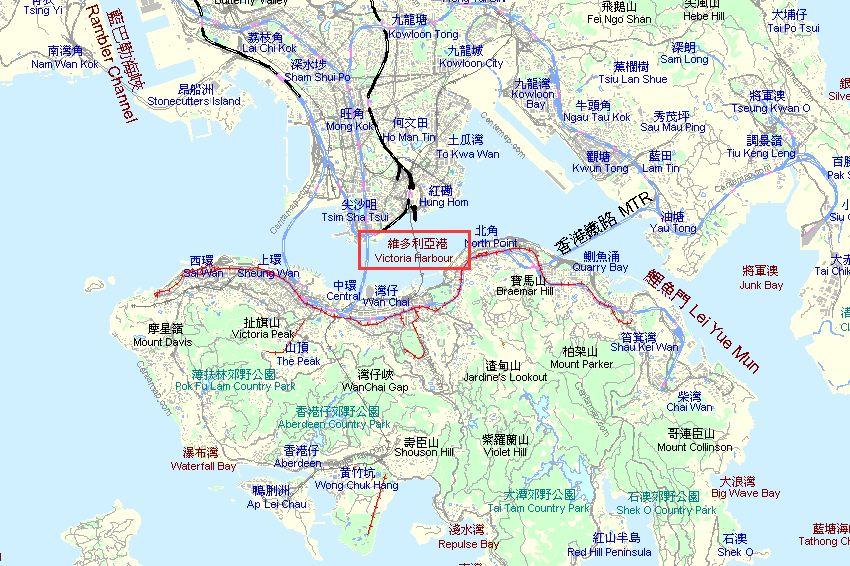香港维多利亚港在哪里
