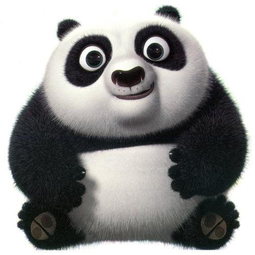 A chubby panda