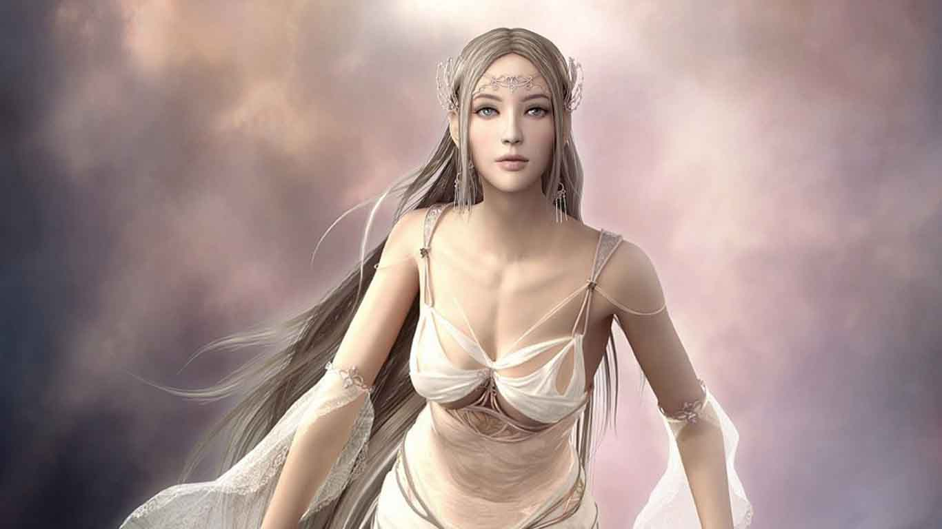 虚拟世界的美女