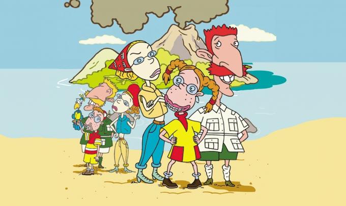 美国动画片 很像辛普森一家或者可可可心一家人上面图片
