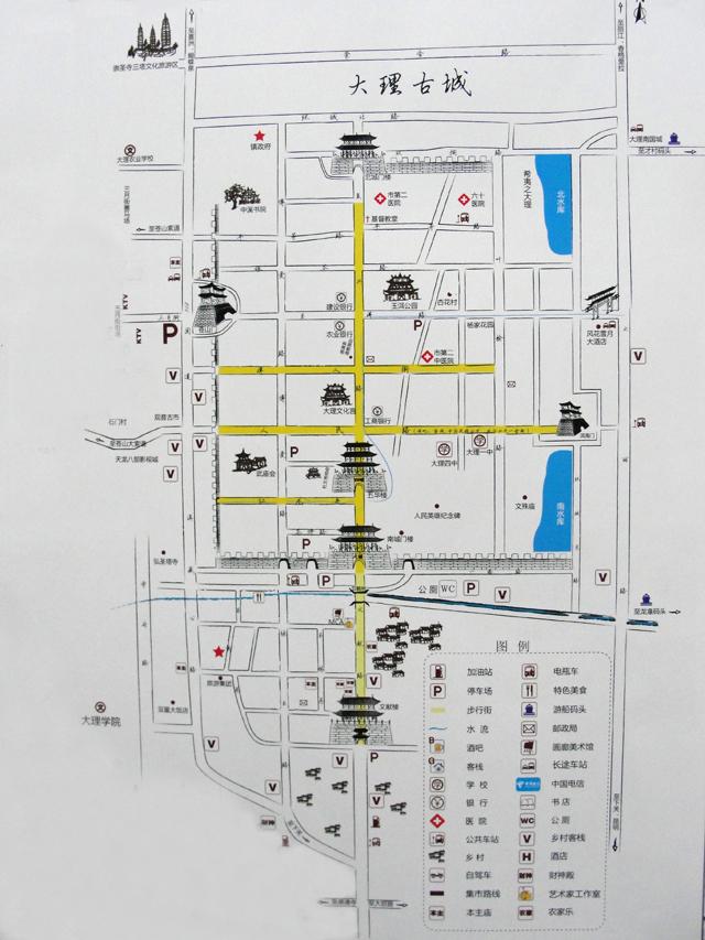 云南旅游景区地图