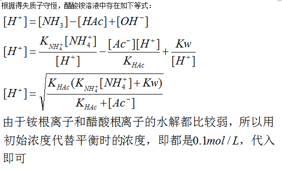 0.1mol醋酸铵配制
