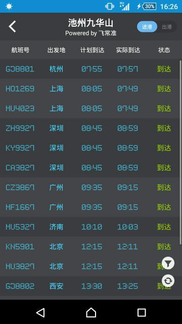 西安到九华山航班